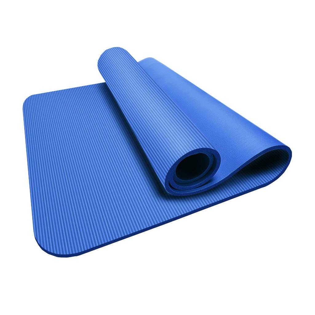 KKCD Große, gepolsterte Yogamatte mit Tragegriff für Pilates, Rutschfeste, Nicht toxische, hochwertige Fitness-Yoga-Sportmatte 185X80cm