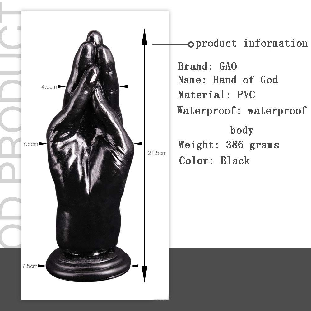Giant Palm Super Masturbación Femenina Fisting Simulación Super Palm Gruesa Súper Grande Consolador Juguetes Sexuales,Black 799775