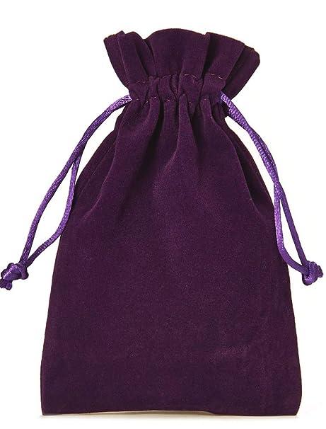 10 bolsitas de terciopelo con cordón para cerrar, tamaño 30x20 cm, bolsa para regalos de navidad, cumpleaños, joyas y otros detalles hechos a mano ...