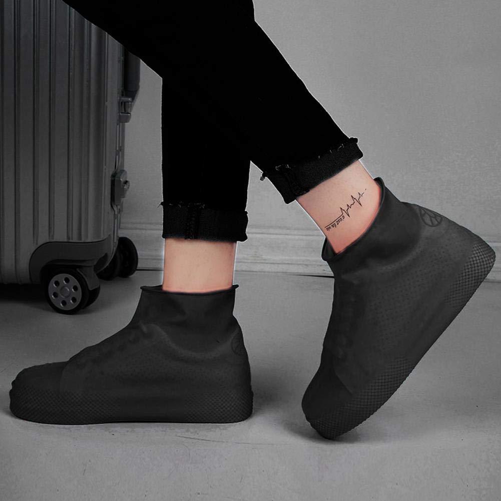Cubierta de Silicona Reutilizable para Zapatos de Lluvia Lavable Impermeable Lavable Azul AOLVO Antideslizante para Zapatos de Lluvia para ni/ños Small Lavable se/ñoras y Hombres