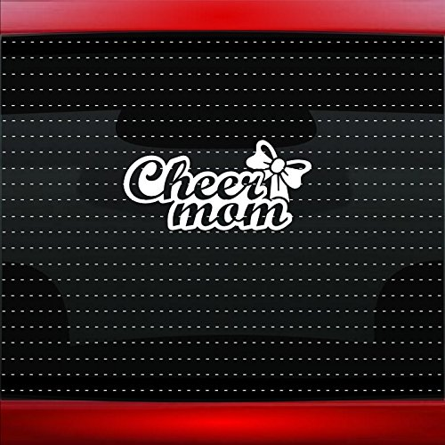 (Cheer Mom #3 Family Dad Cheerleading Car Sticker Truck Window Vinyl Decal COLOR: HOT)