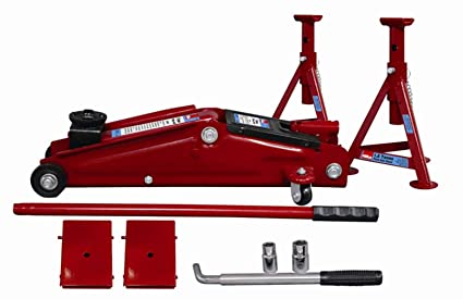 Hilka 82930130 3 Tonne Combination Jack Kit Amazon Co Uk Diy Tools