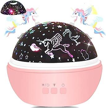 Lámpara de noche de unicornio/proyector de luz de noche de ...