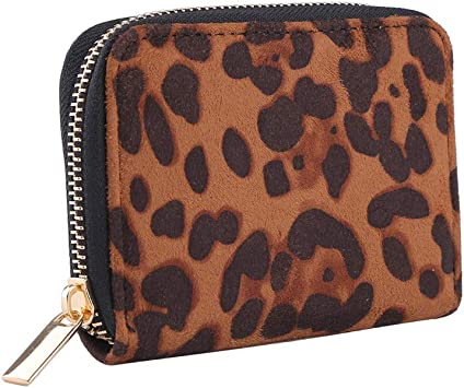 Cheetah Print Fabric ID Case Pocket Purse Gift Card Wallet Business Card Wallet Small Wallet Credit Card Wallet Card Case