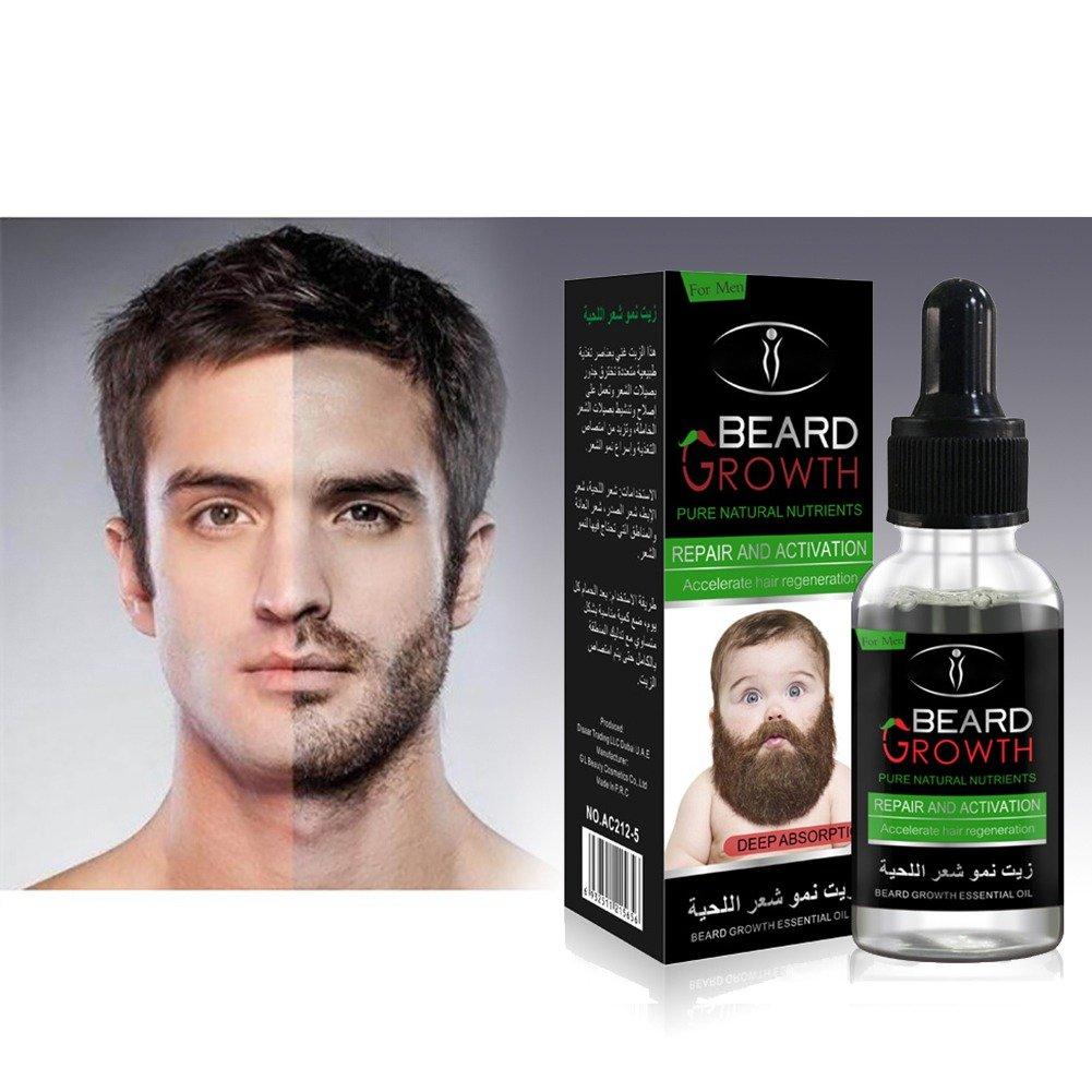 Shouhengda Beard Grow Liquid | Facial Hair Supplement Mens | Hair Growth Vitamins | For Thicker and Fuller Beard