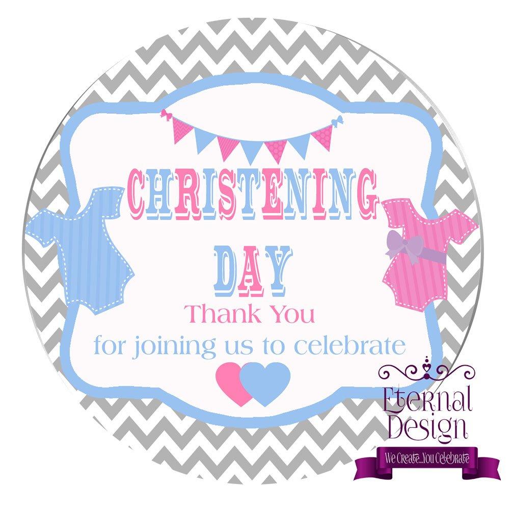 Eternal Design 24 x 45mm Christening Day White Stickers CDCS 6
