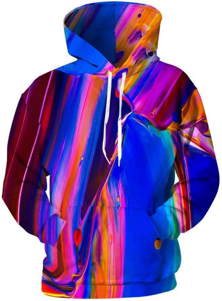 XIN 3D Hoodies Herren Hooded Sweatshirts Bunte 3D Pigment Prints Fashion Hoodies Coole Herren Pullover Streetwear,* L * L