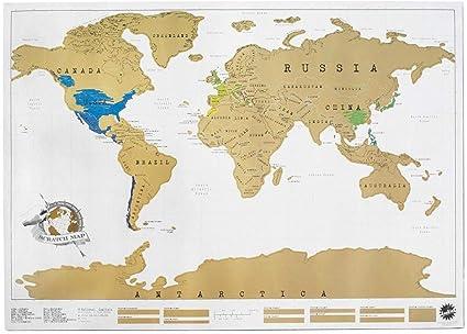 Mappamondo Geografico Cartina.Takestop Mappa Del Mondo Cartina Geografica Marrone Mappamondo Da Grattare 88x52cm Poster Diario Viaggio Idea Regalo Decorazione Camera Casa Ufficio Muro Parete Amazon It Cancelleria E Prodotti Per Ufficio