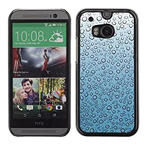 Graphic4You WATER DROPLETS PATTERN HARD CASE COVER FOR HTC One (M8)