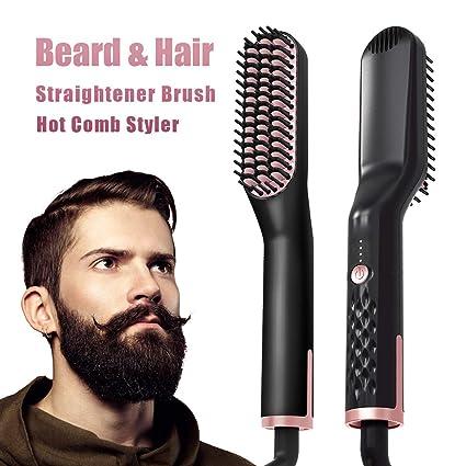 Plancha Pelo, Peine Barba y Rizador de Pelo Beard ...