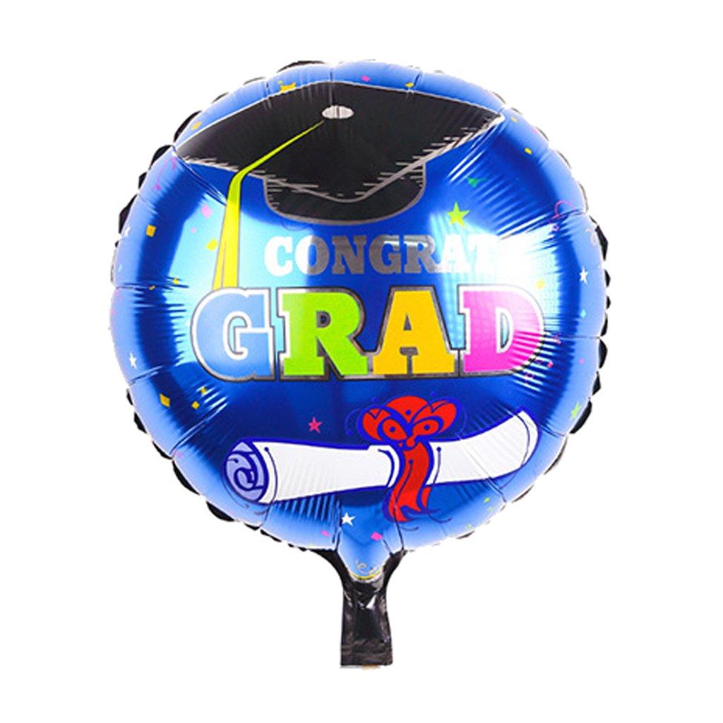 monkeyjackブルーStarry Congrats Grad Foil Balloon Congratulation卒業式ブーケパーティー装飾ギフト   B06ZYHJL81