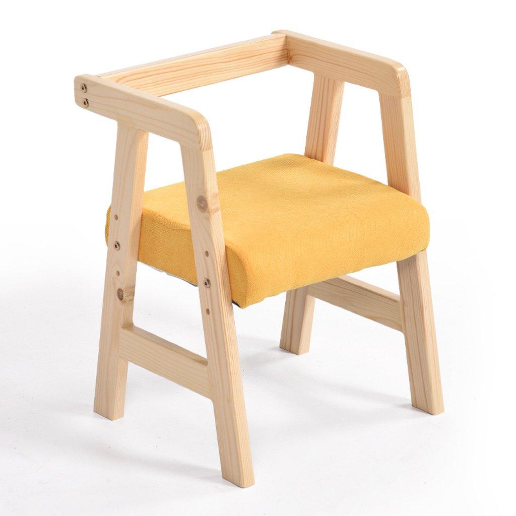CKH Yellow 子供のラーニングチェアダイニングチェア子供の椅子クリエイティブウッドリフトチェアリクライニングチェアの家庭 ( Color : Yellow Color ) B07CB4R966 CKH Yellow, Dクリエイツショップ:1db9e273 --- rakuten-apps.jp
