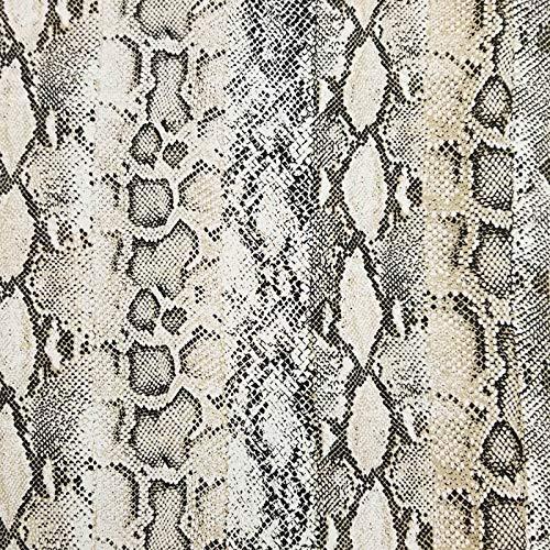 Off White Neutral Snake Skin Print Hi-Multi Chiffon Fabric