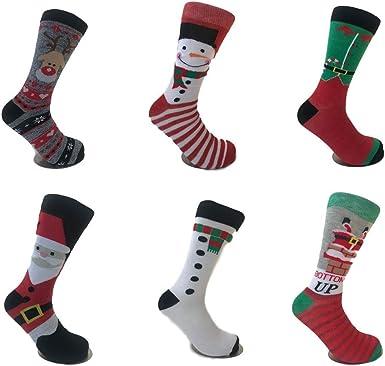 Ladies Novelty Xmas Fun Christmas Character Socks Fro Santa Stocking Filler Gift