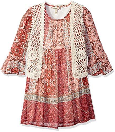 brown crochet dress - 7