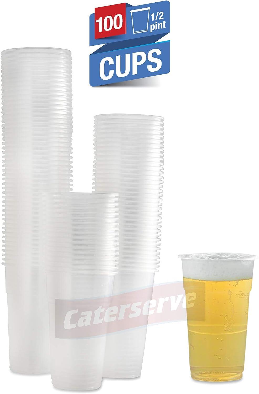 Vasos de plástico desechables para cerveza de gran calidad, reciclables, PP 100 Half Pint Cups