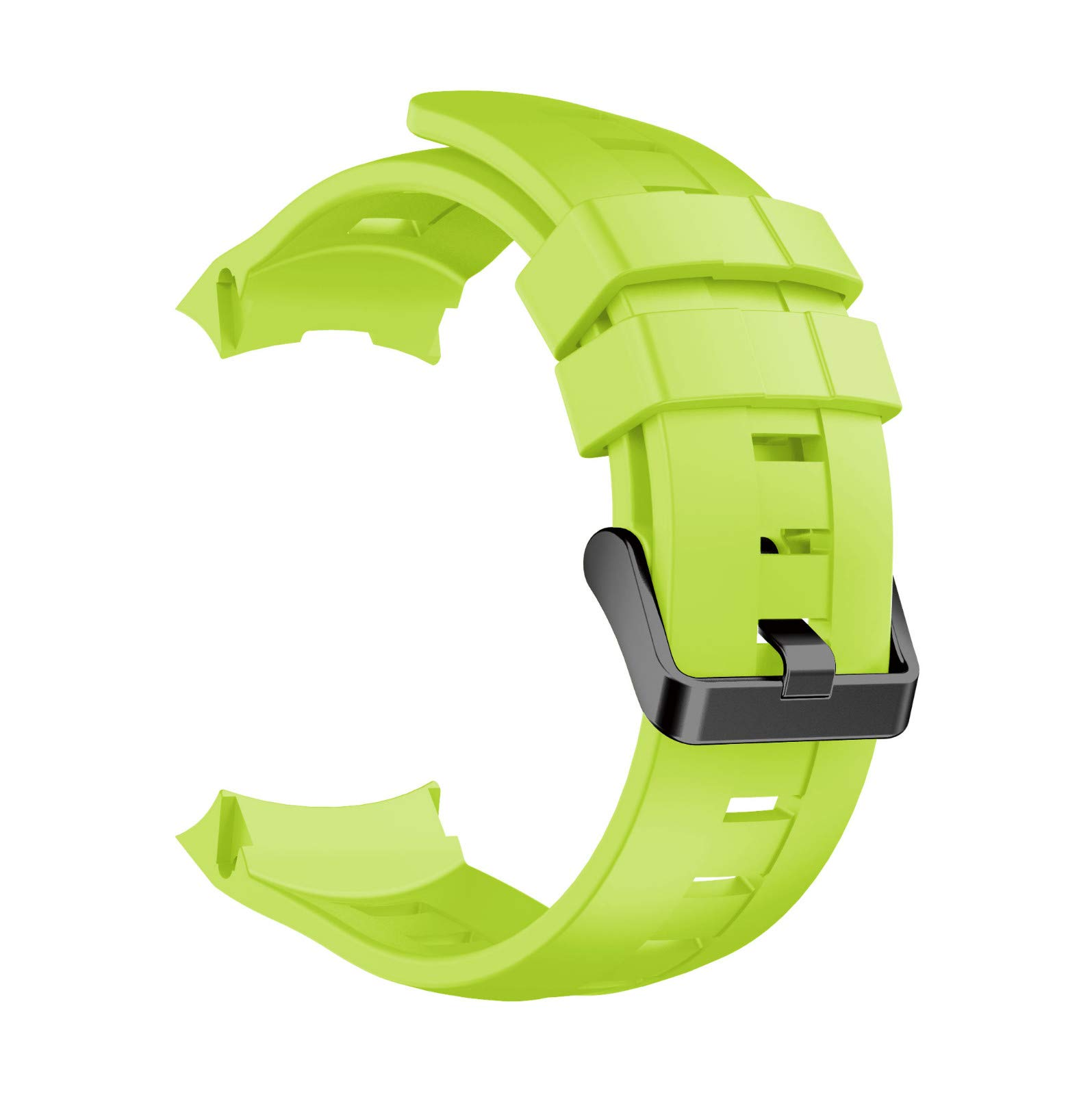 Sonmer Replacement Soft Silicone WristBand Strap For Suunto Ambit 3 Vertical (Green)