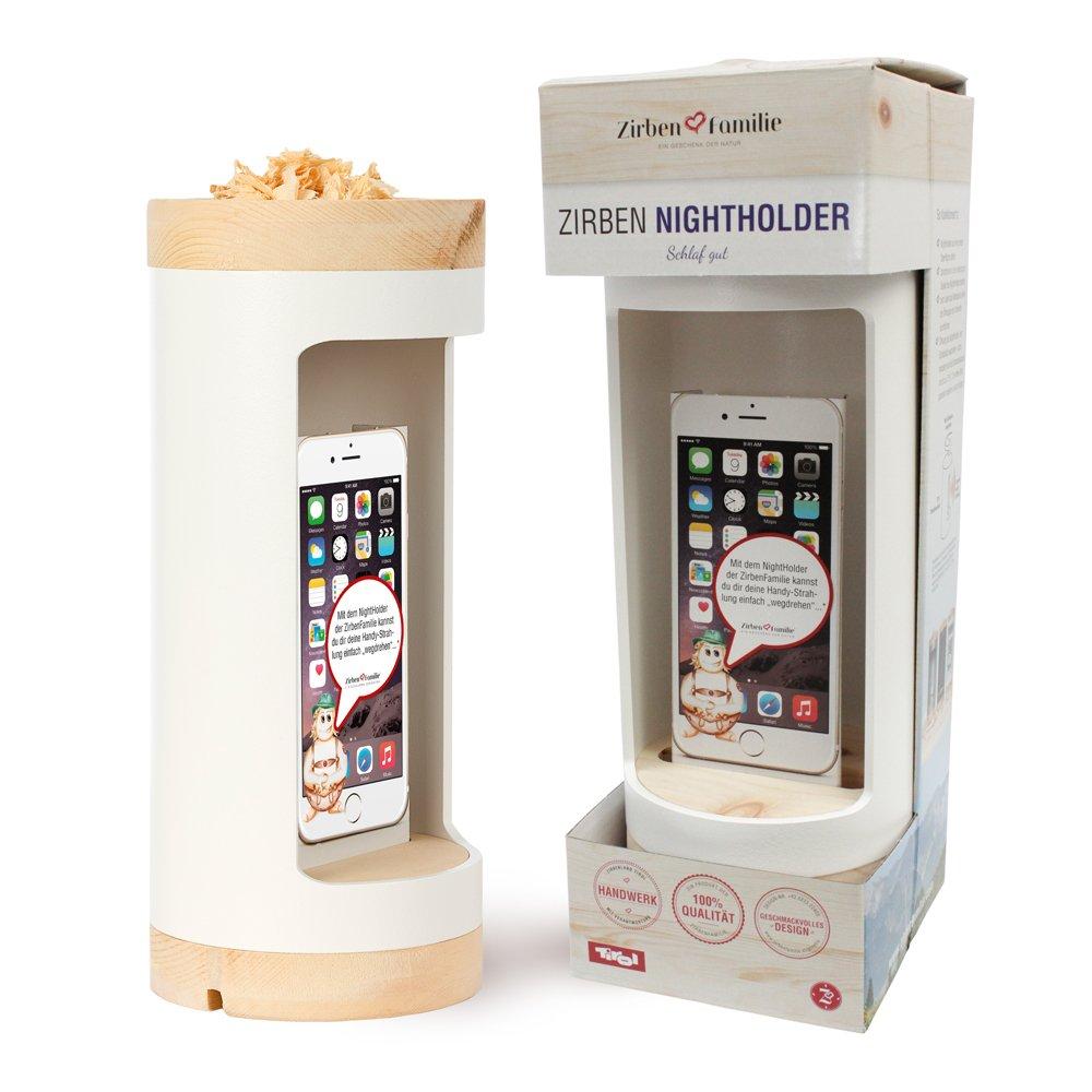 Ladestation für Ihr Handy am Bett mit Abschirmung / Zirbenholz Produkte