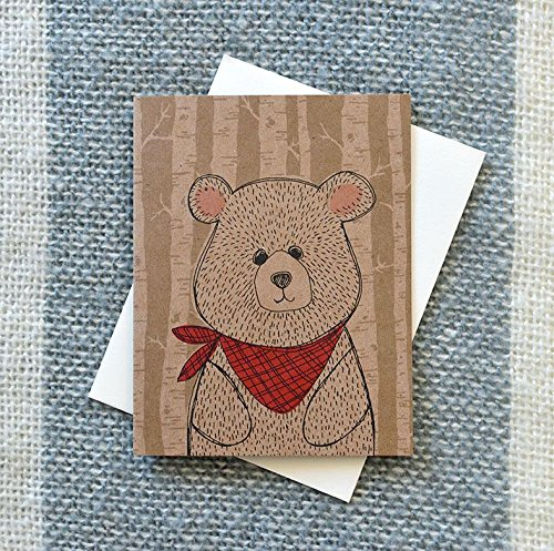Bandana Bear on Kraft Card