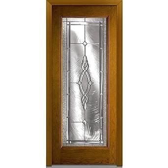 National Door EFO686BRZ28LHDWL Steel Prehung Left Hand In-Swing Entry Door Brentwood Decorative Glass  sc 1 st  Amazon.com & National Door EFO686BRZ28LHDWL Steel Prehung Left Hand In-Swing ...