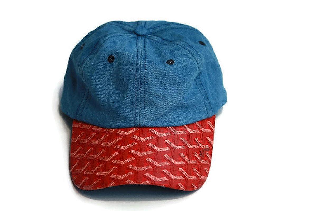 81fcdcf7790 Goyard DAD Baseball Cap (Navy Blue Red)  Amazon.co.uk  Clothing