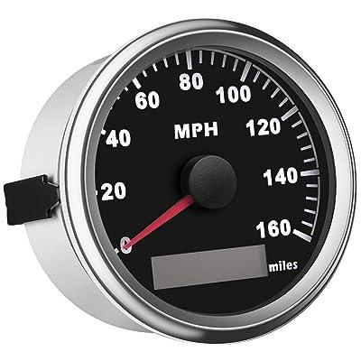SAMDO Universal GPS Speedometer Boat Gauge With Odometer 85mm 160MPH , ATV Motorcycle Marine GPS Speedometer: Automotive