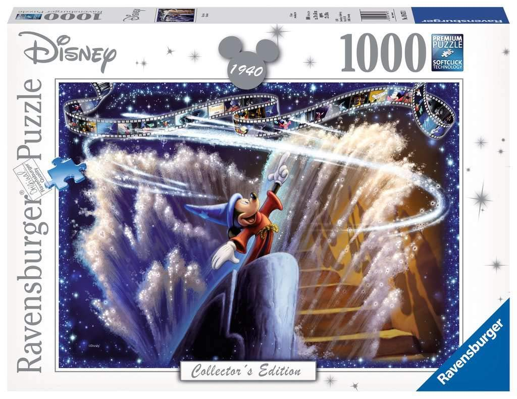 Ravensburger 19675 Disney Collector's Edition Fantasia 1000 Jigsaw Puzzle for Adults-Every Unique, Softclick Technology Means Pieces Fit Together Perfectly