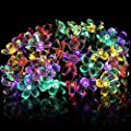 Qedertek Solar String Lights, 21ft 50 LED Fairy Blossom Flower Garden Lights for Outdoor, Home, Lawn, Wedding, Patio, Party and Holiday Decorations