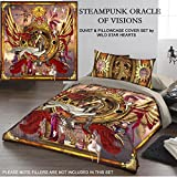 STEAMPUNK ORACLE OF VISION Duvet & Pillows Case Covers Set for Queensize Bed