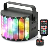 Dj lights,GLIME LED Disco Lights Built in U Disk/SD Card with Remote Control RGB Effect Stage Lighting Sound Activated for Wedding Birthday Club Holiday Color Chaning(Metal Casing)