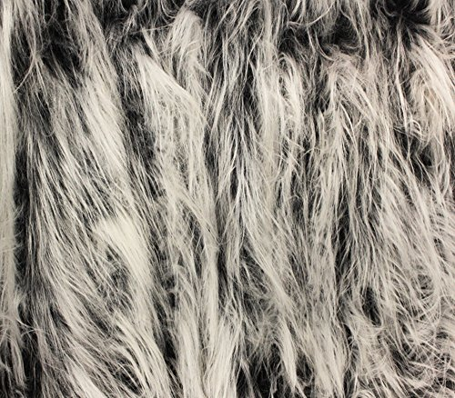 Faux Fur Fabric Long Pile Gorilla Grey Frost / 60