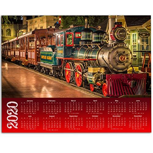 2019 Calendar - Disneyland Railroad - 11x14 Unframed Calendar Art Print - Great Gift to Disney Fans, Also Makes a Great Gift Under $10