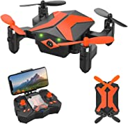 Drone with Camera - ATTOP Drones for Kids & Beginners, AR Game Mode 480P RC Drone for Kids w/App Gravity/Voice Control/Trajec
