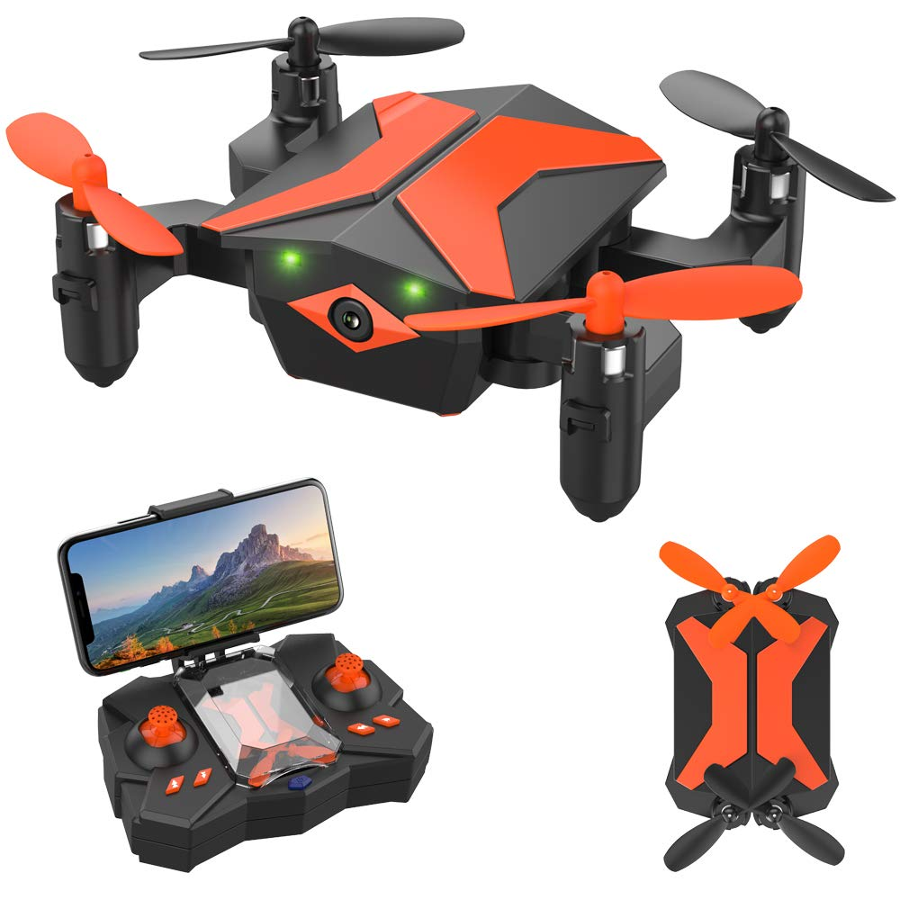 ATTOP Drones with Camera for Kids Drones for Kids & Beginners, AR Game Mode 480P RC Drone for Kids w/App Gravity/Voice Control/Trajectory Flight/Altitude Hold 360°Flip Mini Drone Foldable & Portable by ATTOP