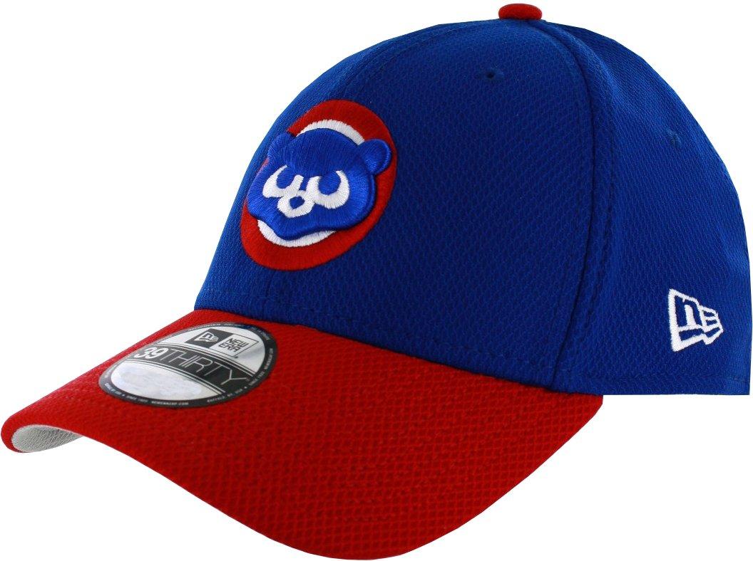 Amazon.com   New Era 39THIRTY Chicago Cubs Diamond Era Flex Fit Hat ... 23d8a2d6748