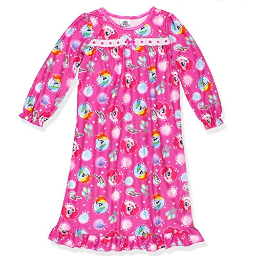 My Little Pony Girls Flannel Granny Gown Nightgown (8, (Granny Night Gown)