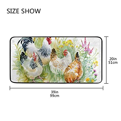 Buy Chicken And Rooster Kitchen Mat Rugs Cushioned Chef Soft Non Slip Floor Mats Washable Doormat Bathroom Runner Area Rug Carpet Online In Ghana B08884gdhh