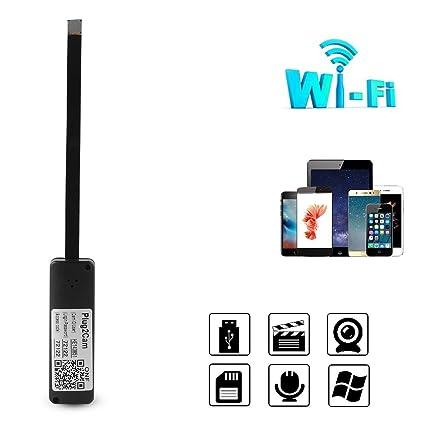 matecam Mini cámara, WiFi estenopeica Spy cámaras vigilancia Cámara de vigilancia en tiempo real