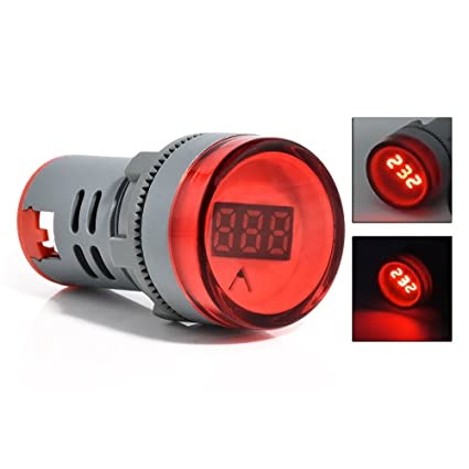 NexgenGadgets Digital LED AC Voltmeter 60-500V Panel 22mm Self Powered  Voltage Meter RED Indicator