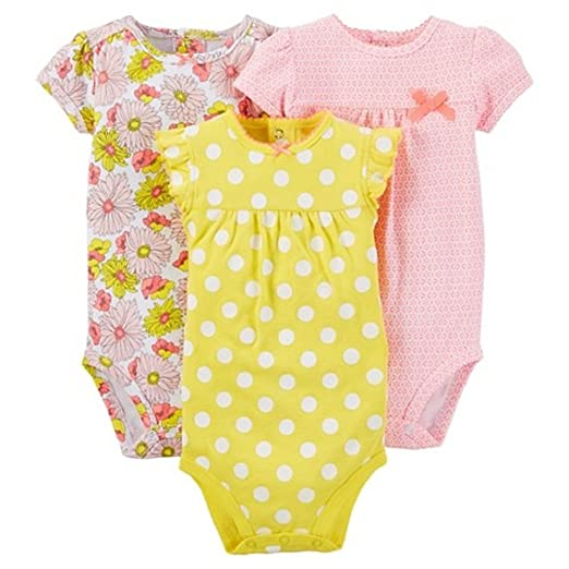 5715bb003 Amazon.com  Carter s Just One You Baby Girls  3-Pack Bodysuit Set ...