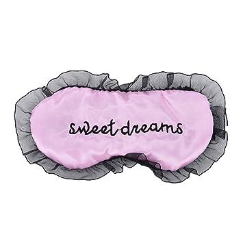 Daxey - Duplex Seda Dormir la máscara de Ojo Sombra de Ojos Máscara del sueño Negro Máscara Vendaje en los Ojos para Dormir [Rosa]: Amazon.es: Deportes y ...