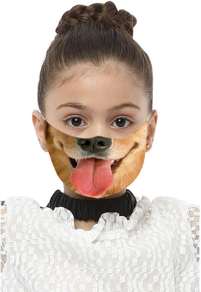 Reasoncool Kinder Staubdichte Foggy Haze Mit 2 PC Dichtung Gesichts Filter Wiederverwendbare H/ängendes Ohr Bandana Atmungsaktiv Sonnenschutz