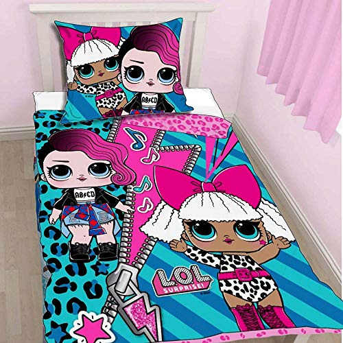 Lol Surprise Kinder Bettwäsche Mädchen Bettgarnitur Türkis Pink 2