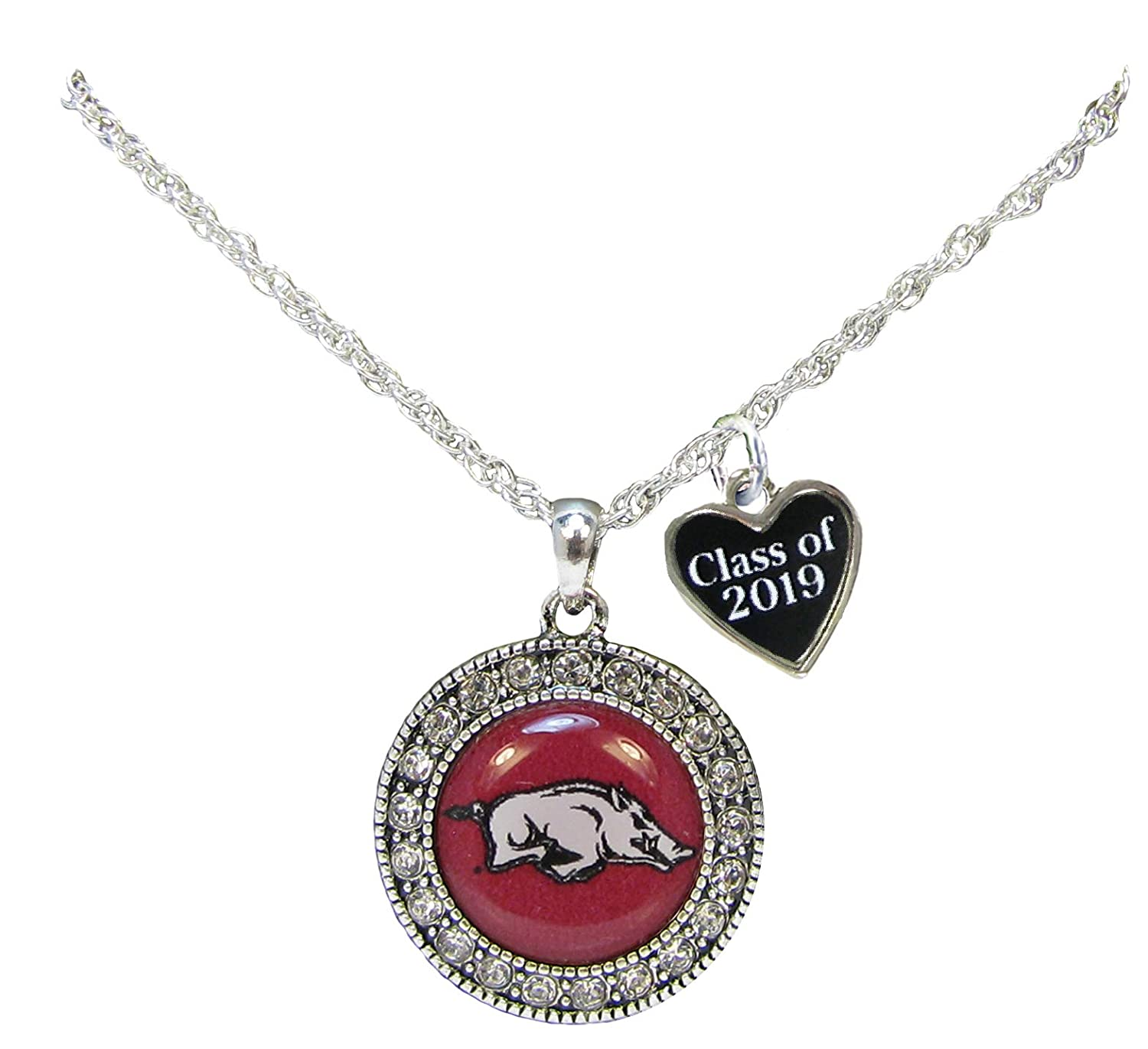 Holly Road Custom Arkansas Razorbacks Choose Year Class of Graduation Alumni Necklace Jewelry UA