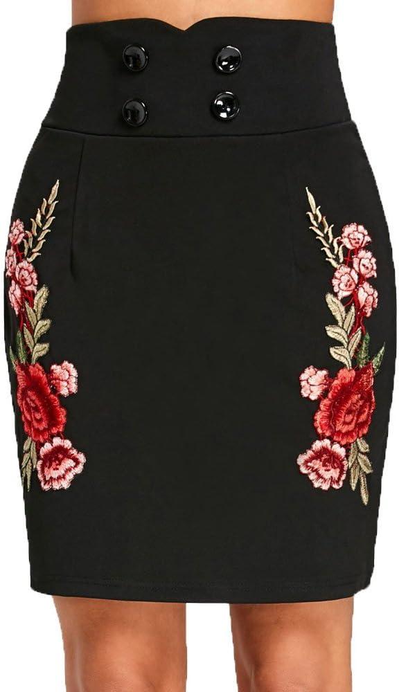 Falda de Verano Estampada para Mujer Dwevkeful Estampada Moda ...