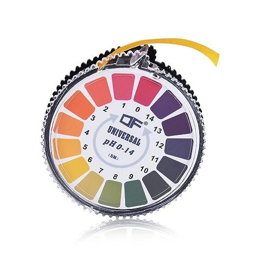 4 opinioni per ANZESER indicatore di pH Cartina tornasole di carta Striscia Roll, 0-14 per