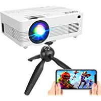 [WiFi Projector] QKK Upgraded 6000Lumens Projector, Full HD 1080P Supported Mini Projector [Tripod Included], Max 200…
