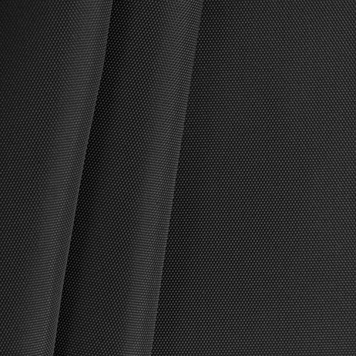 Black 420 Denier Coated Pack Cloth Fabric - by the Yard (Ballistic Material)