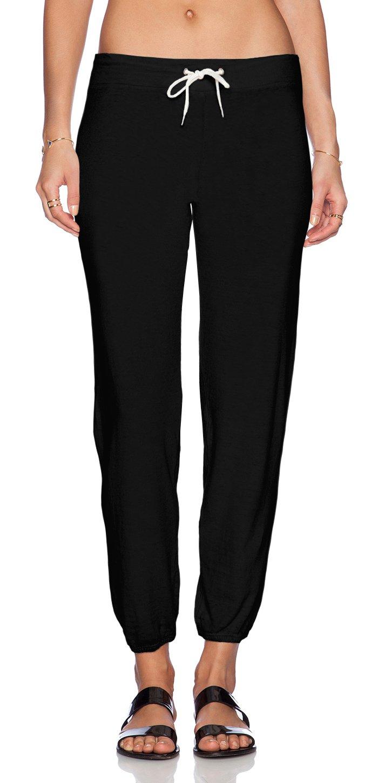 Monrow Super Soft Vintage Sweatpant (Extra Small, Black)