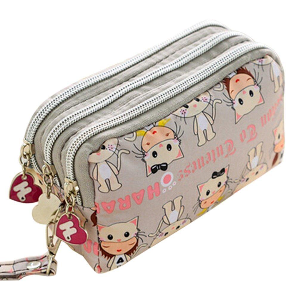 BIGBOBA moda simpatico Canvas Bag Cartone animato modello portafogli in nylon Bar denaro sacchetto piccolo portafoglio portadocumenti con chiusura lampo, Nylon, b, 16 x 10 cm